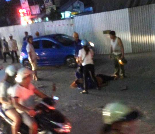 Hà Nội: Công nhân rơi từ công trình đường sắt Cát Linh- Hà Đông xuống